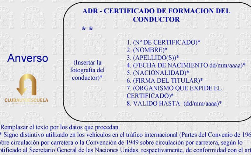 Nueva prórroga de la vigencia del permiso para conducir ADR y del de consejero deseguridad