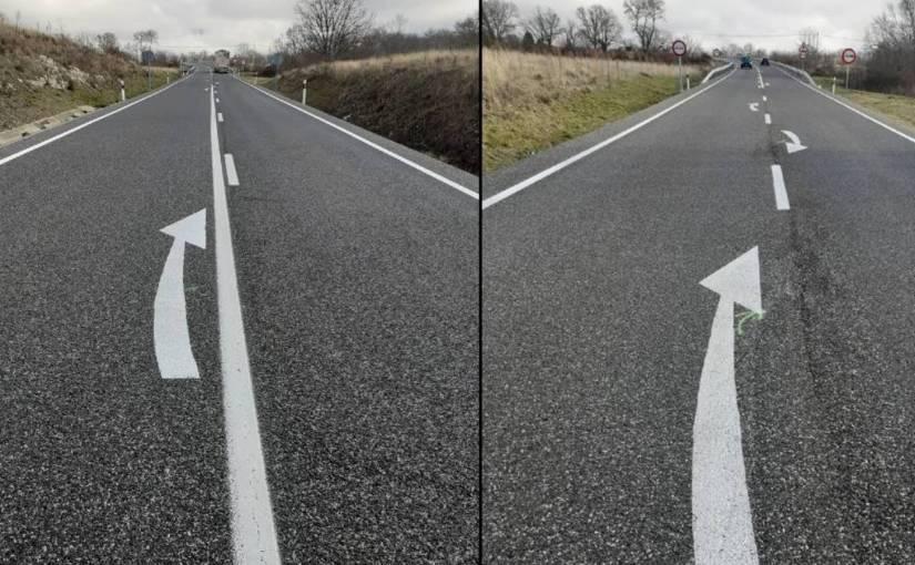 """Periodo experimental de dos nuevos usos de la marca vial conocida como """"flecha deretorno"""""""