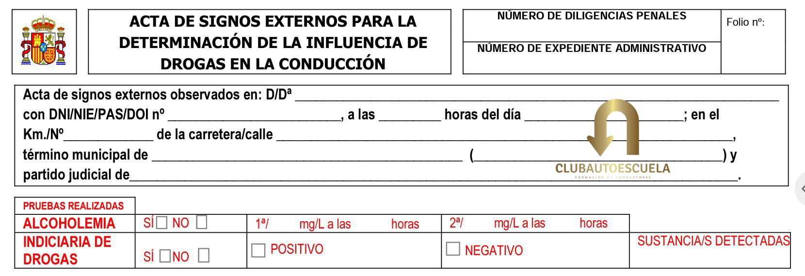 DGT ACTA DE SIGNOS CLUB AUTOESCUELA